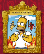 Homer Simpson Heaven Hell