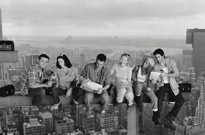 Lunch atop a Skyscraper - Friends