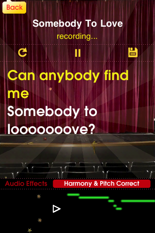 Glee app - Someody to love