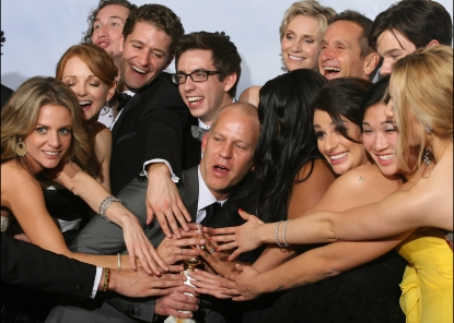 Ryan Murphy and Glee cast