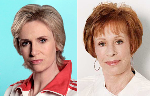 Jane Lynch and Carol Burnett