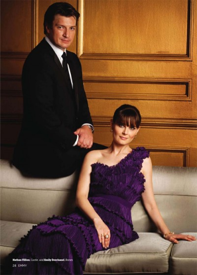 Nathan Fillion and Emily Deschanel Emmys