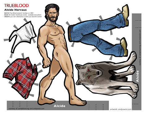 Alcide True Blood paper doll