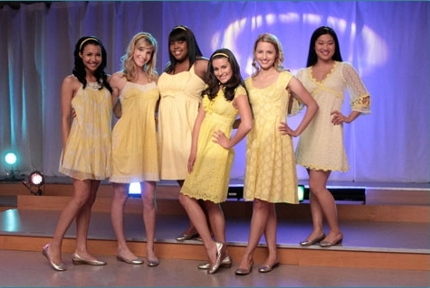 Glee yellow dresses